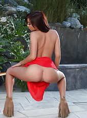 Sexy Capri Anderson shows off her tight little ass and pussy.