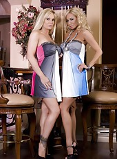 Beautiful busty blondes, Tyler Faith and Lexxi Tyler, are all dolled up and can