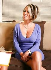 Hot lesbian sex between Amber Lynn Bach and her sexy girlfriend.