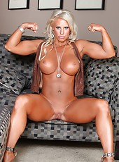 Ripped and energetic Megan Avalon can