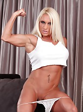 Ashlee Chambers short skirt really shows off her hard big quads, hamstrings and quads.