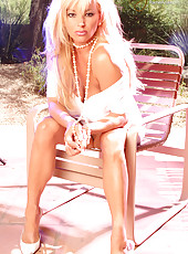 Oh it was so hot during this photo shoot! Summer in the desert is not very fun, so I found a way to cool myself off. I poured water all over me..and I mean all over...