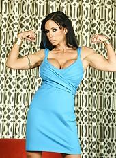 Jewels Jade strips off her panties and shows us her big swollen clit.