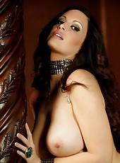 Nikki Nova shows off her big huge pussy lips.