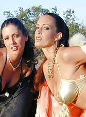 Nikki Nova and her gorgeous girlfriend get hot under the desert sun!