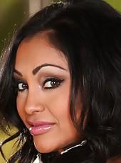 Sexy girl Priya Anjali Rai plays with a big cock like dildo.