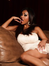 The beautiful Priya Anjali Rai strips from her sexy white dress showing off that dark body.