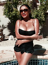 It is so hot in Arizona and Priya Rai make it even hotter as she splashes around in the water. She strips off her clothes and the water just rolls down her steamy hot body.