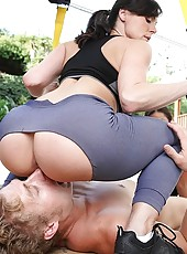 Kendra got on all fours so ariella could eat her ass as her pussy got a workout of its own