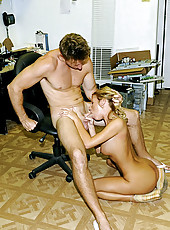 Cute petite milf gets banged at work by the hunter watch her pussy get pounded on her desk