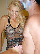 This sexy milf gets creamed up and down in these hot pics