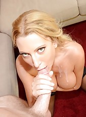 This sexy milf knew all the right moves and teased me so good i was ready to explode so dont miss out on this hot momma giving it up and getting a nice hot load all over her delicious tits