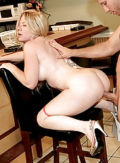 Sexy smoking ass blonde fucked in the cigar room hot cumfaced milf fuck pics