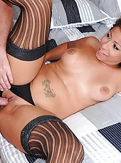 Smoking hot fucking black hair latina get drilled hard in her hot pussy after getting picked up in the pizza joint