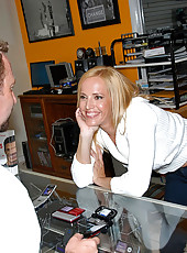 Smoking hot fucking ass milf takes a mega cock to the pussy and mouth in these office fucking pics