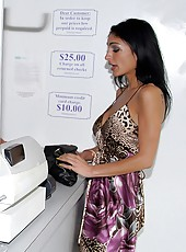 Watch hot big tits milf get her box pounded hard in the dry cleaning store in these hot fucking vids