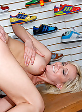 Hot banging blonde gets fucked doggy style after bending over shopping for clothes in these hot reality fucking pics