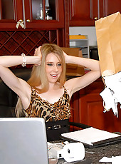 Hot milf tax accountant babe gets her pussy fucked on the desk for a tax refund in these hot pics