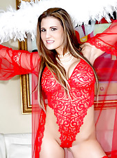 Chk out these super hot red lingerie pics of austin getting her tight milf pussy pounded hard