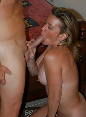 Milf with huge tits and tight ass gets some of the hunter dick