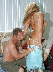 Hot blonde milf gets nailed like she stole something