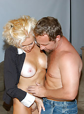 Sexy blonde milf that just loves to ride the cock