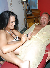 Hot milf masseuse gives more than a happy ending here