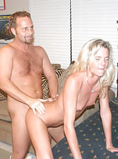 Naughty little milf gets some cock from behind and loves it