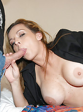 This hot brunnette milf gets her pink panties all soaked in these hot ass photos
