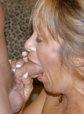 Tight and tan milf shows the hunter how much she misses cock