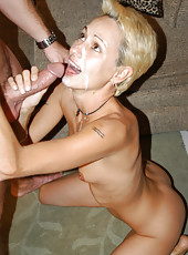 Pics of eager little blonde getting pounded hard