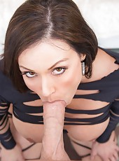 Soon after stuffing kendras mouth johnny fucked her from various angles and positions he then shot his load all over her pretty face which she lapped up enthusiastically