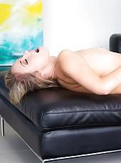 Hot smoken blond amazing body huge round ass sprayed with cum