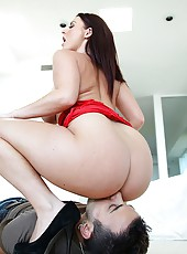Hot ass sophie dee takes a mega cock deep in her ass pussy and mouth hard cumfaced pics