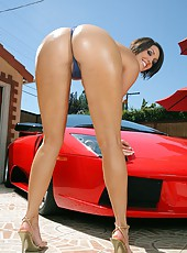 Check out hot ass curvy big tits babe dylan get fucked against her ferrari in this hot fucking reality pics and big hd video