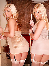 Check out these two amazing hot blonds both have a uge rack and huge monster ass