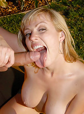 Big titty adrianna gets her hot ass pussy banged in the garden in these hot amateur reality pics