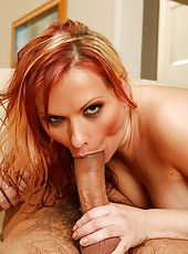 Horny euro red  head katya shows her long legs then fucks like no tomorrow in these amazing pics