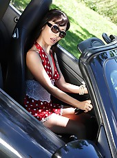 Hot Asian Squirting In A Porsche