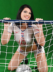 Hot naked USA fan babe Roxy Panther