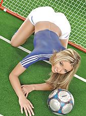 Sexy naked football fan Cherry Jul
