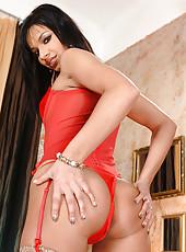 Hot Angel Pink ass-fucks herself