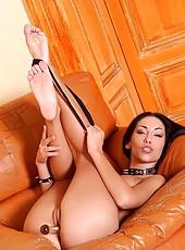 Pornstar Mya Diamond strips nude