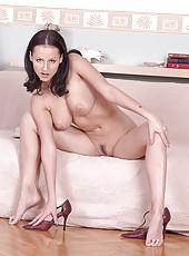 Busty babe Michelle Wild stripping