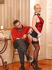 Blond Britney serves all anal sex