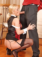 Blond Britney serves all anal sex