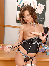 Glamorous office worker & sex toy
