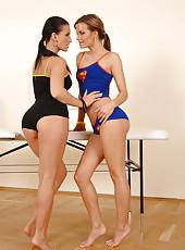Lesbians Mili Jay and Suzie Carina