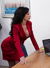 Gorgeous Veronica Avluv fucks one of the employees at her work and has hot orgasms.