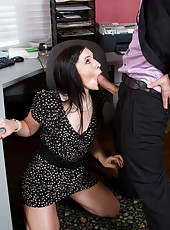 Ashli Orion has hot sex at her office.
